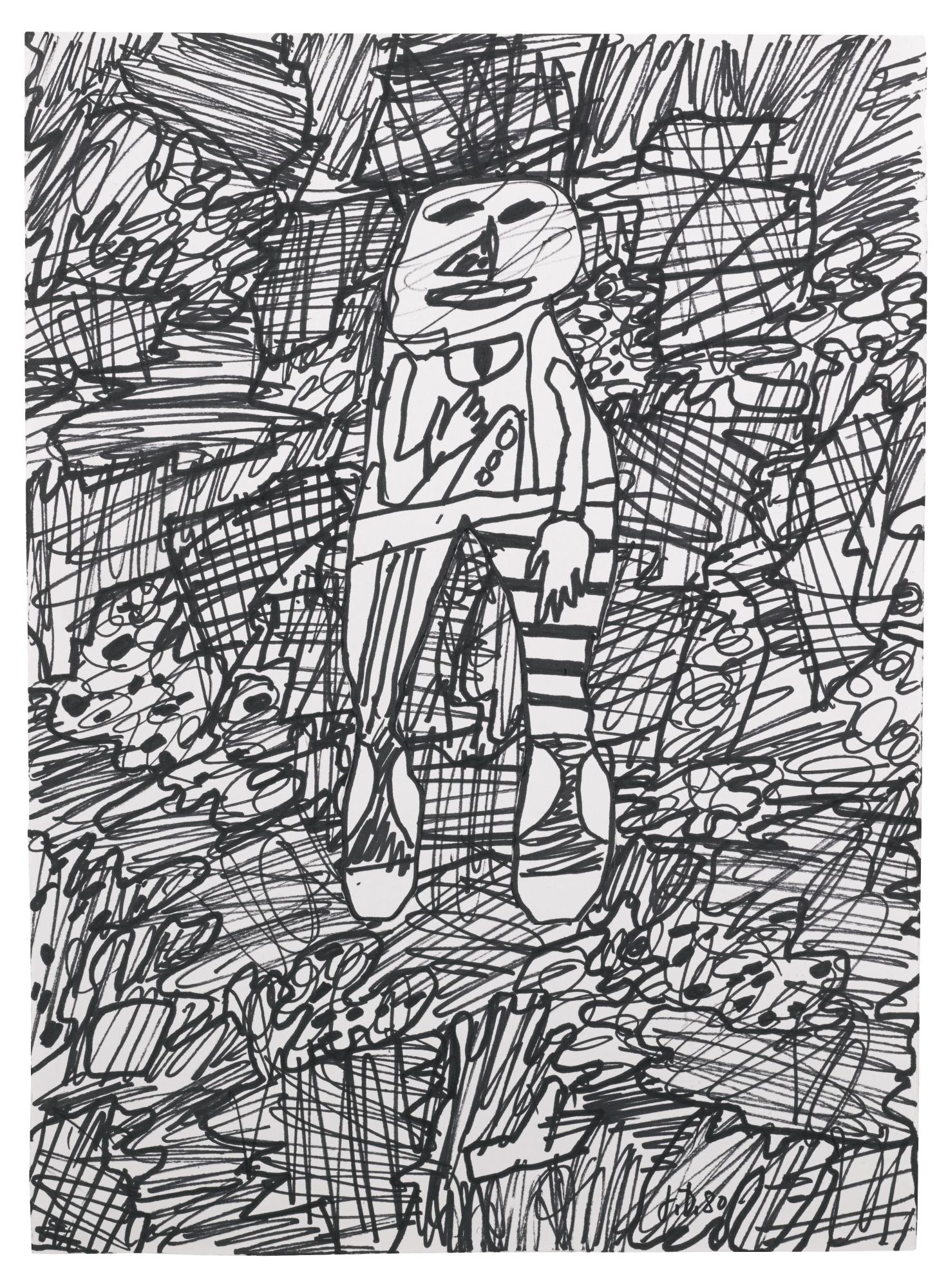 Jean Dubuffet-Paysage Avec Un Personnage-1980