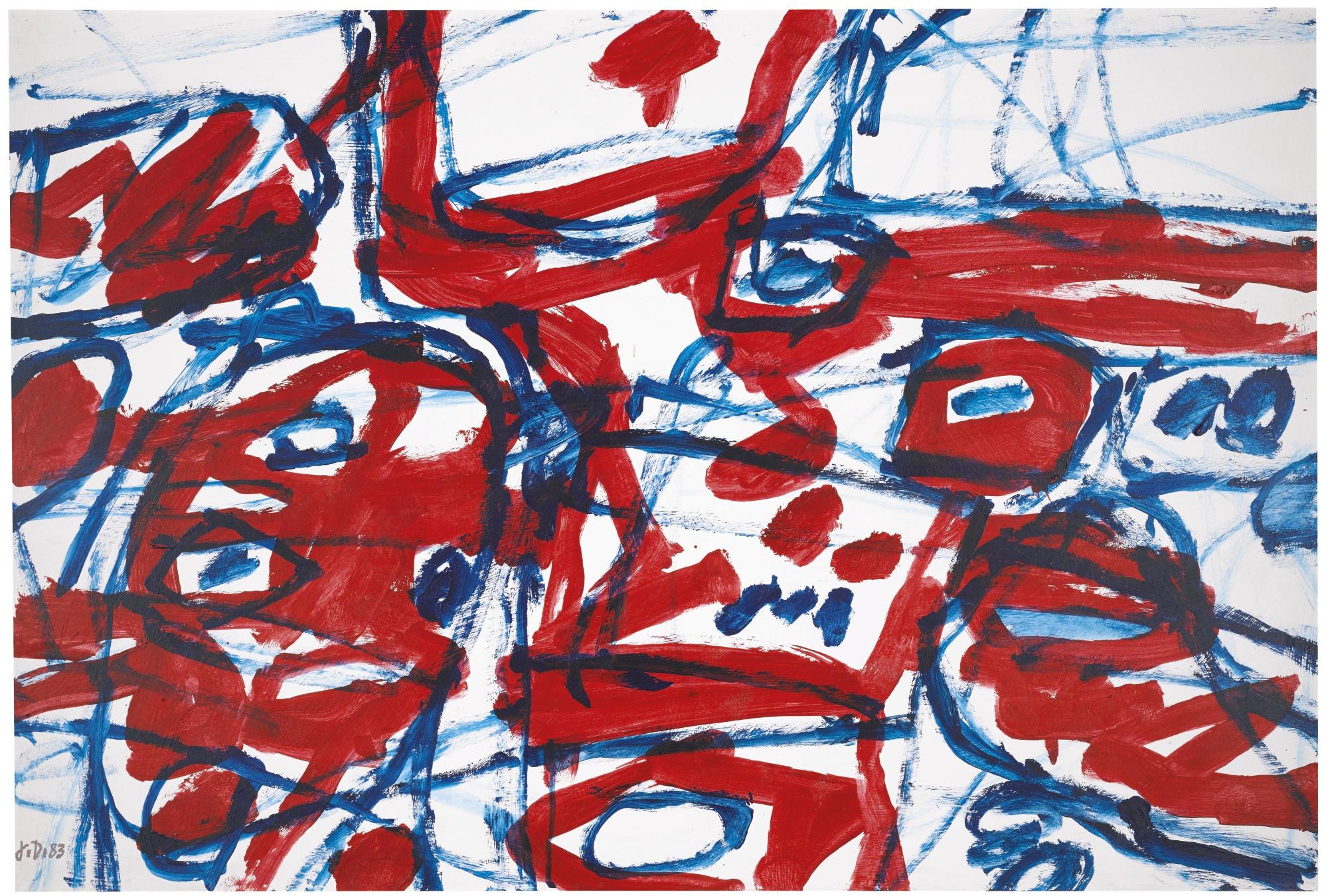 Jean Dubuffet-Mire G 71 (Bolero)-1983