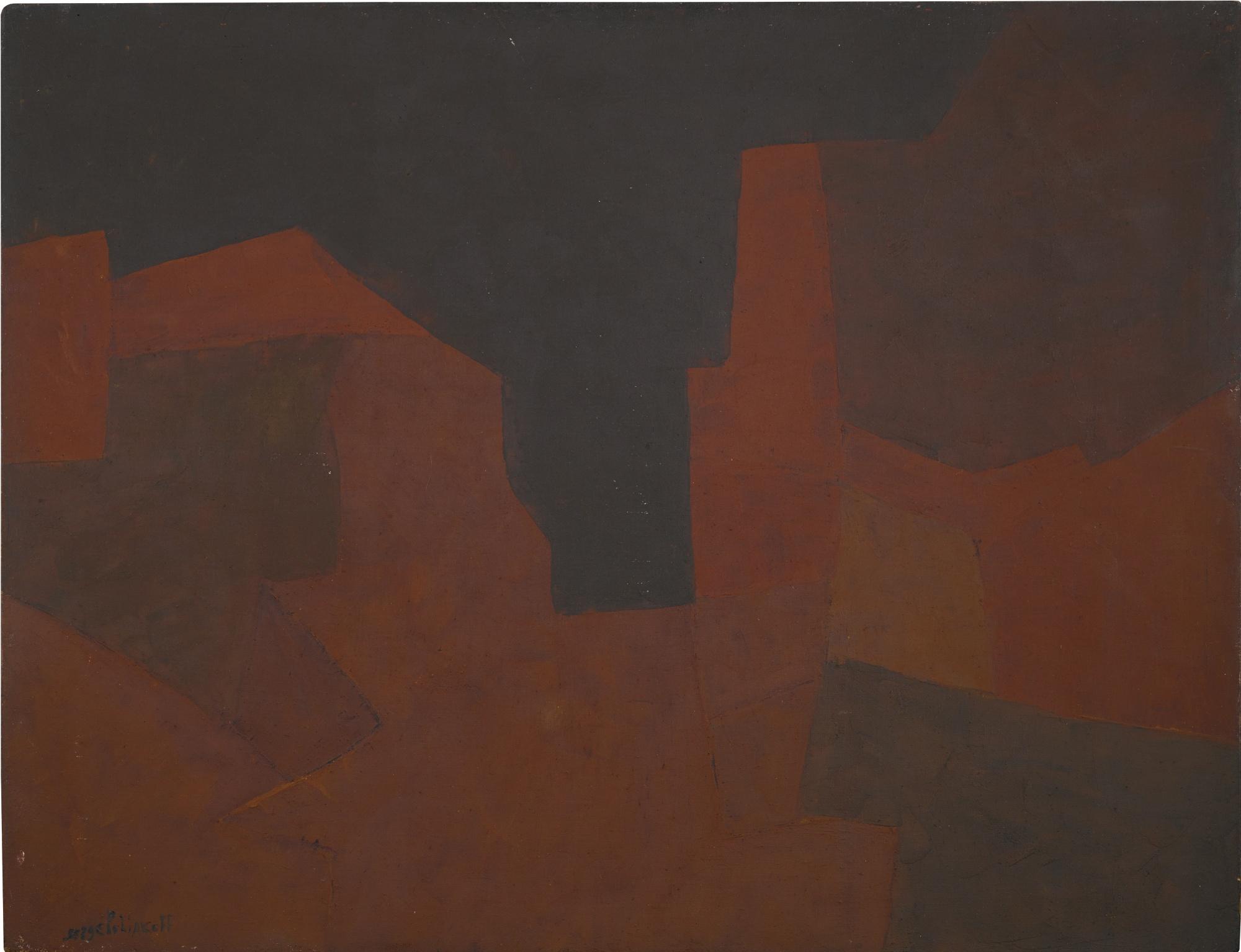 Serge Poliakoff-Marron-1955