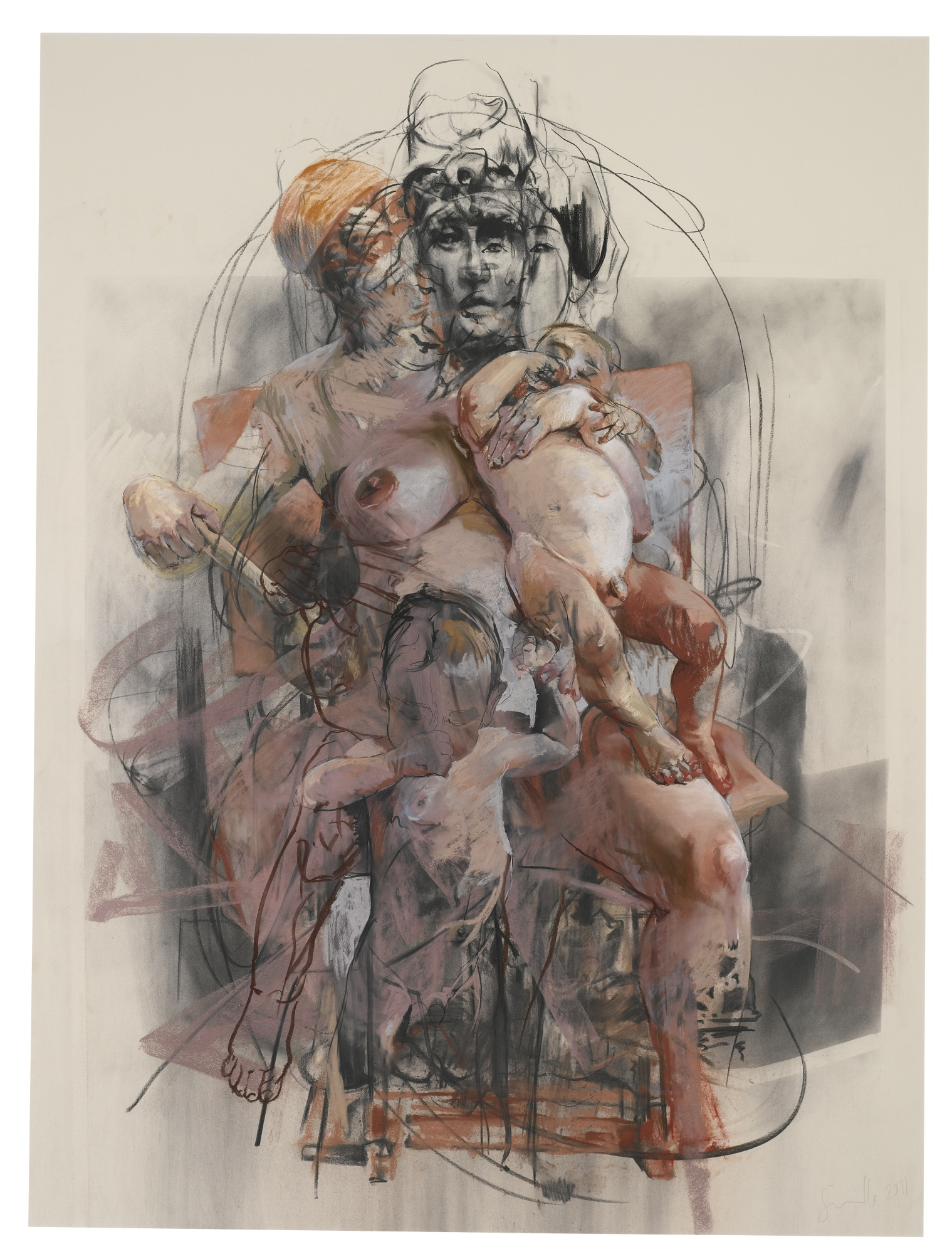 Jenny Saville-Study For Isis And Horus-2011