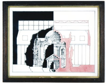 Pablo Bronstein-Elevation And Interior Of Historic Building-2005