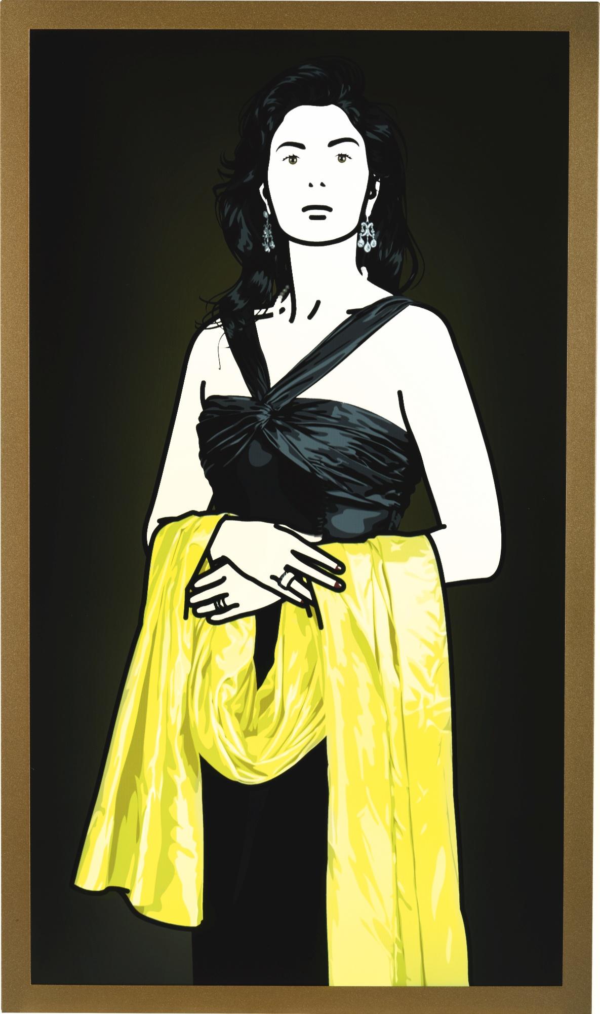 Julian Opie-Antonia With Yellow Shawl.-2008