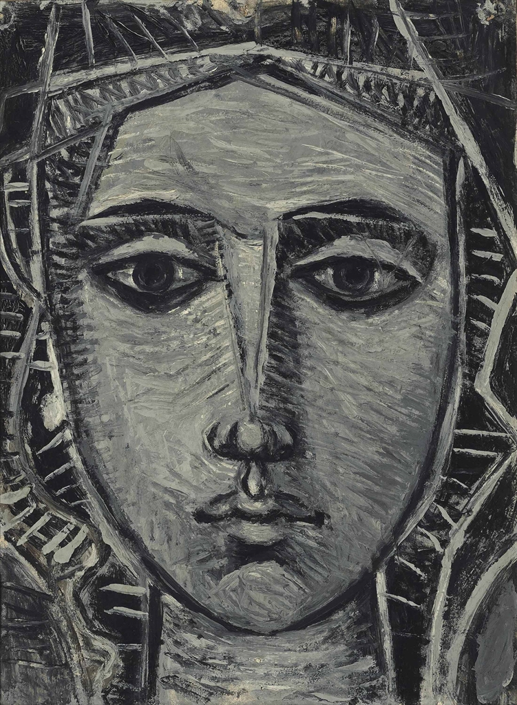 John Craxton-Head of a woman-1950