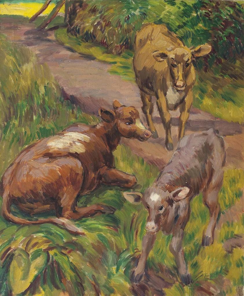 Duncan Grant-Cows at Charleston-1955