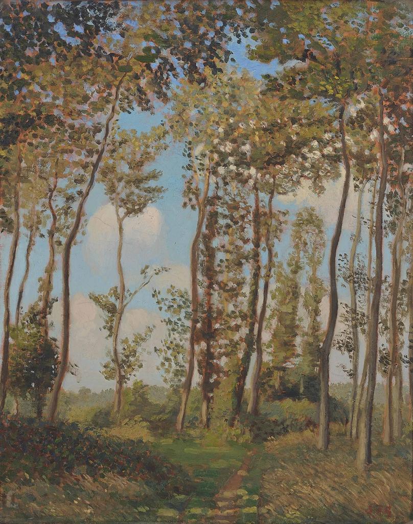 Frederick Gore-Landscape near Neuville Normandy-1906