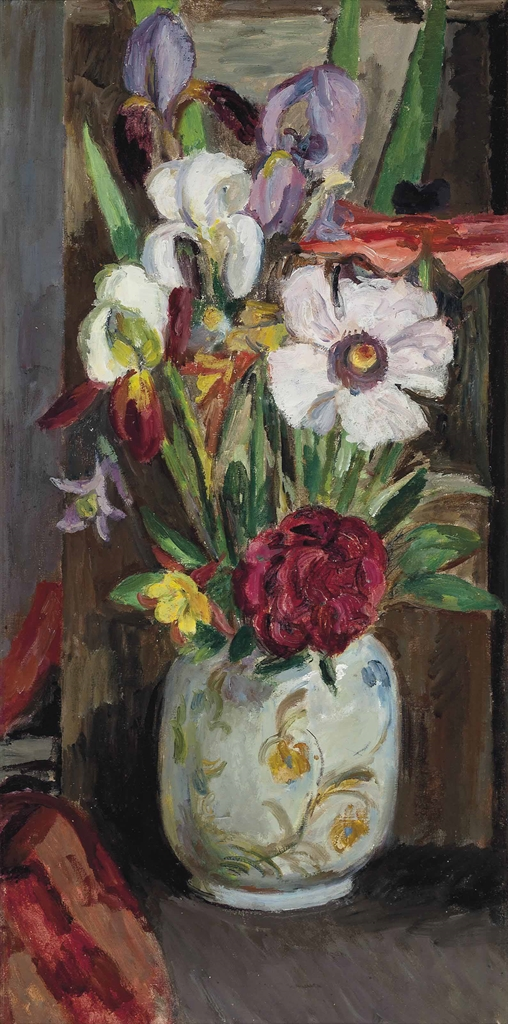 Vanessa Bell-Still life with summer flowers-1945