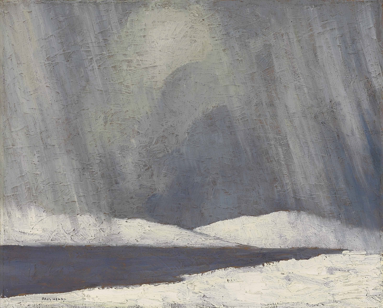 Paul Henry-A Snow Shower over a Lake-1918
