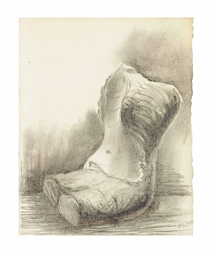 Henry Moore-Seated Torso II-1975