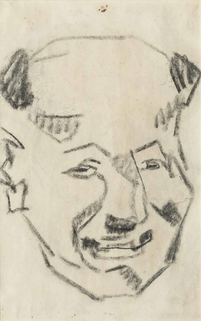 Henri Gaudier-Brzeska-Portrait of a man-1912