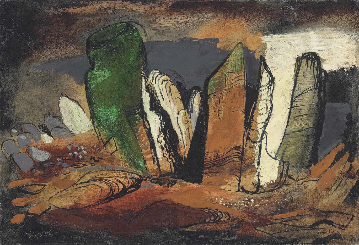 John Piper-Glyders Rocks-1950
