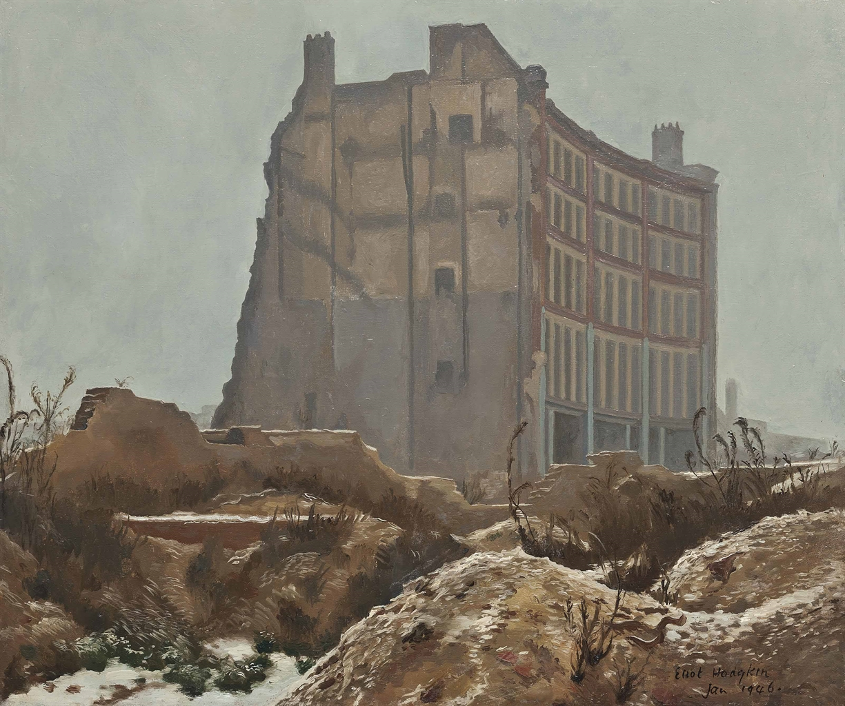 Eliot Hodgkin-A Building off Goswell Road January 1946-1946