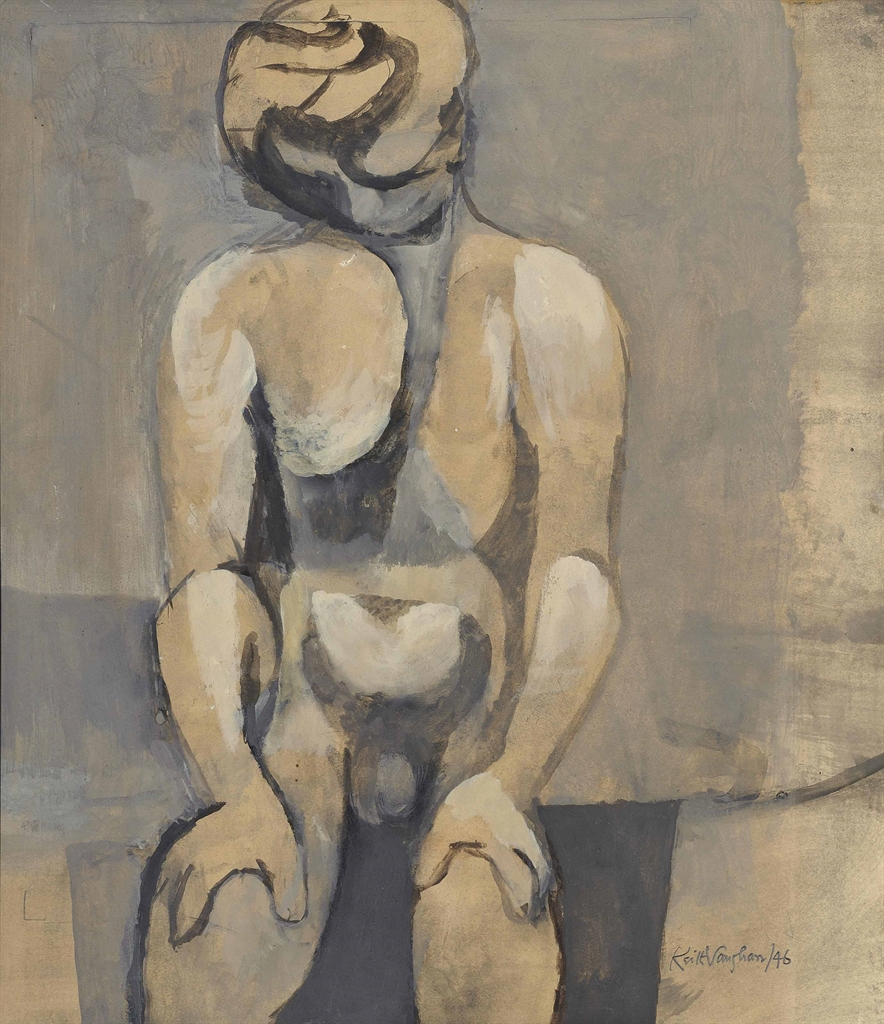 Keith Vaughan-Seated Figure-1946