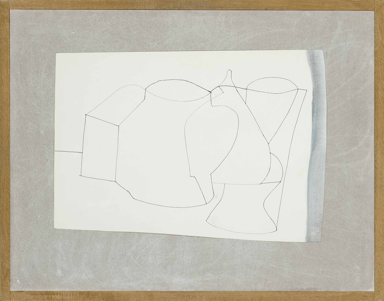 Ben Nicholson-Sculptured forms two-1978