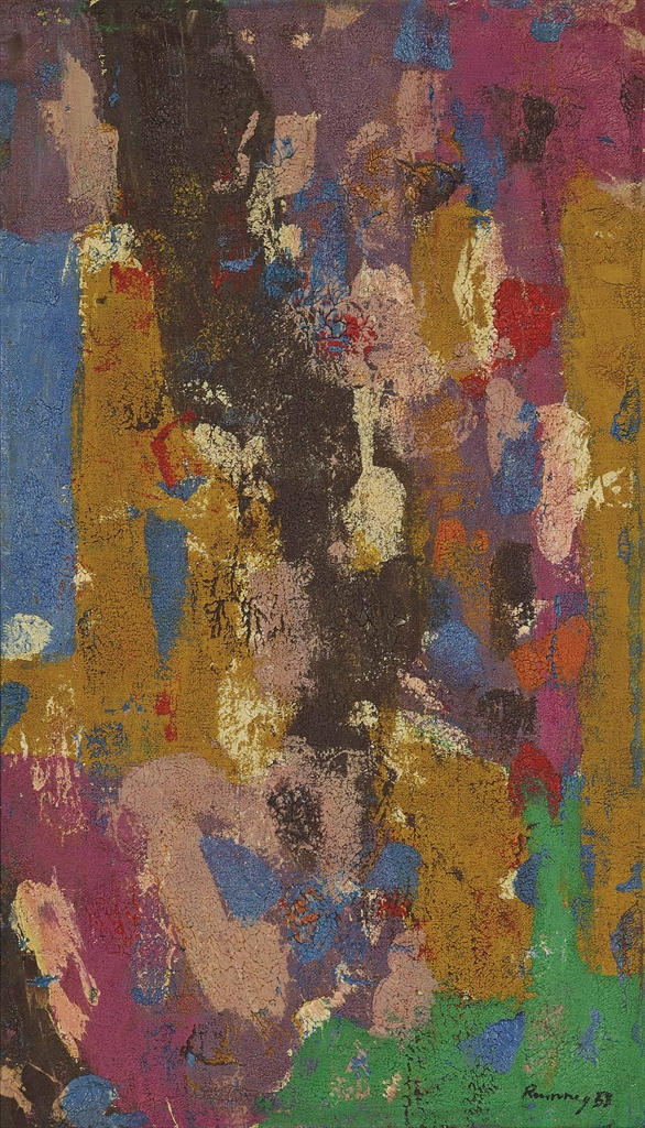 Ralph Rumney-Untitled (Pink)-1958