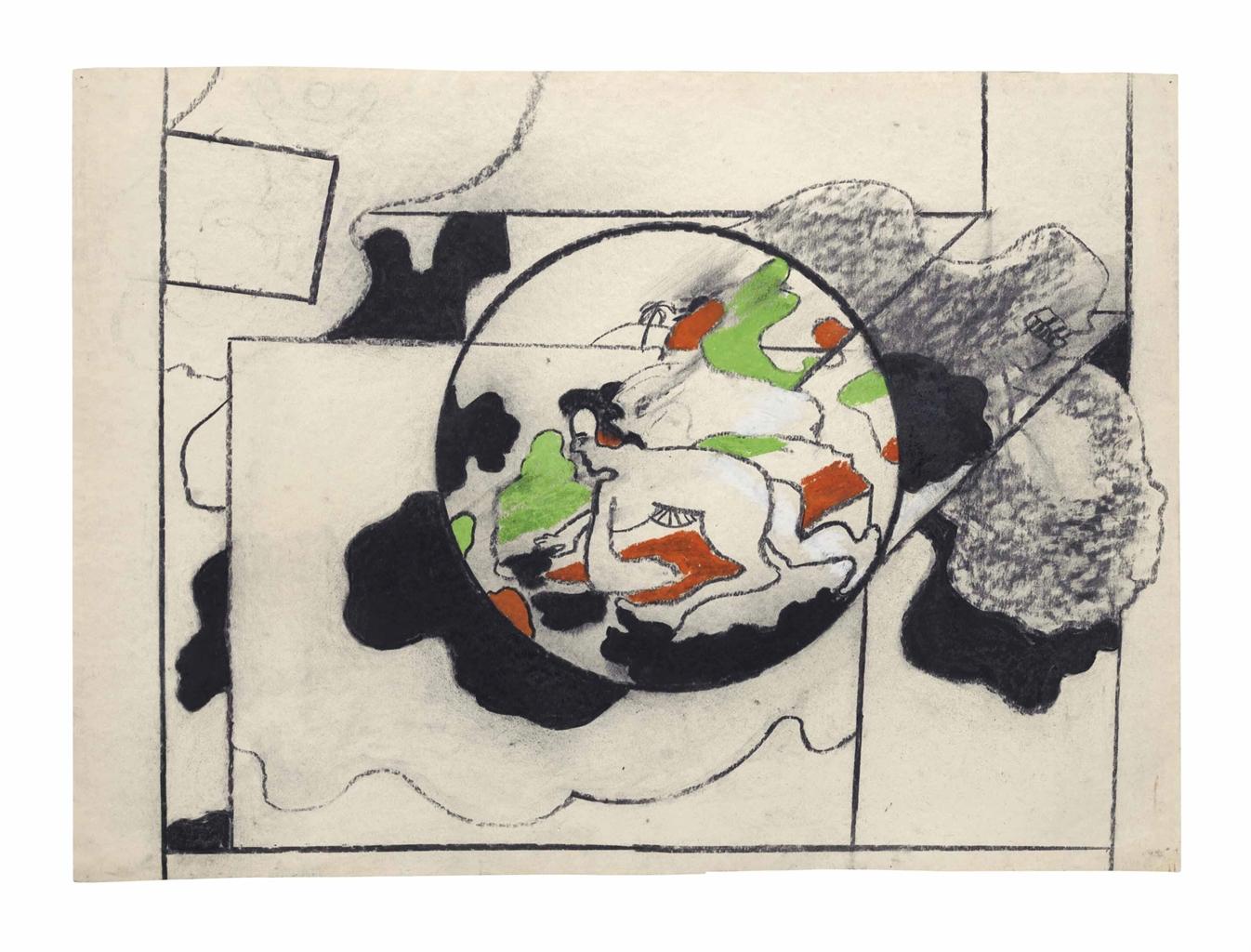 Derek Boshier-Untitled (Green and orange)-1963