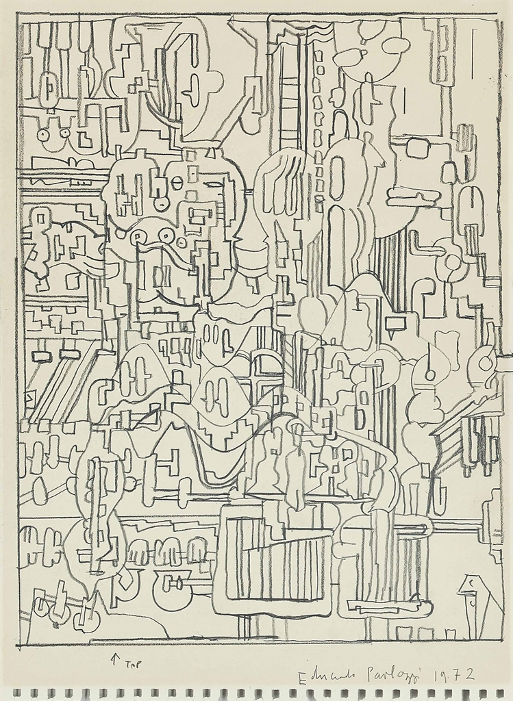Eduardo Paolozzi-Four abstract compositions-1972