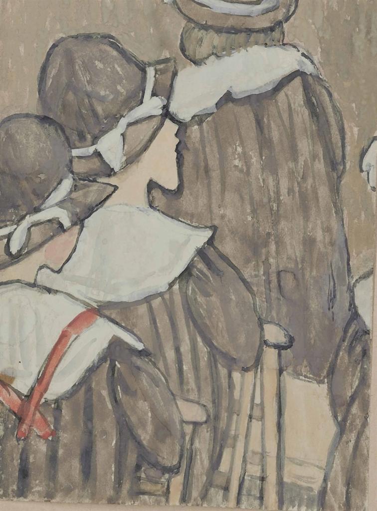 Gwen John-Jeunes filles a la messe-1928