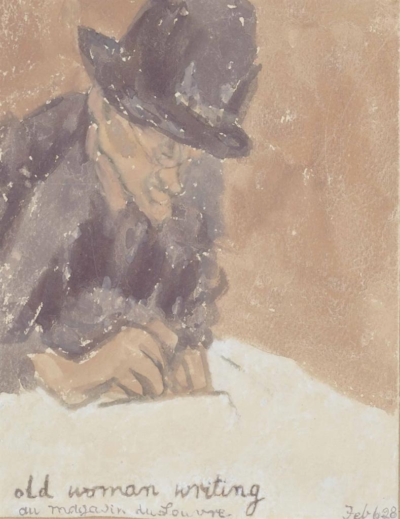 Gwen John-Old Woman Writing-1928