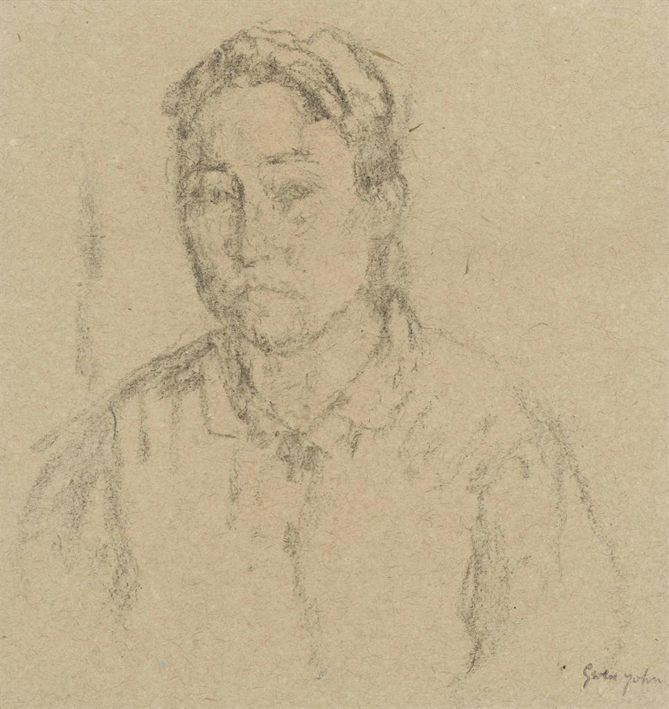 Gwen John-Portrait of a woman-