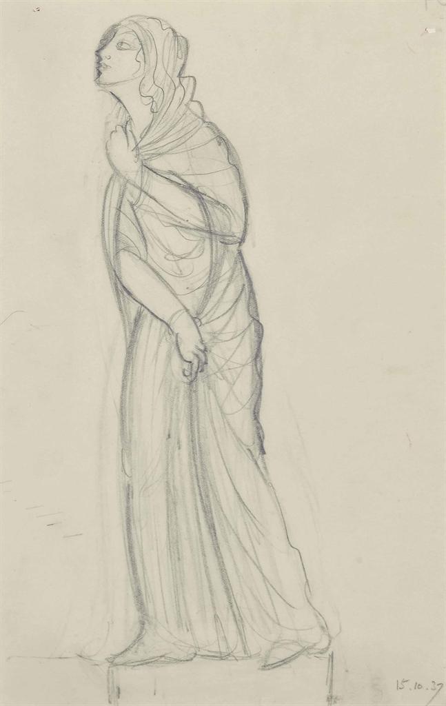 Eric Gill-Draped Woman-1937