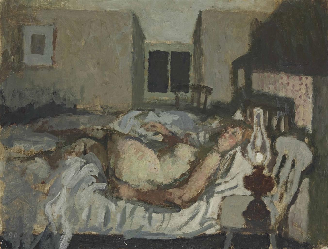 Bernard Dunstan-Cottage Bedroom-1960