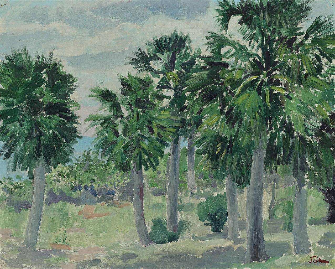 Augustus Edwin John-Cabbage Palms Jamaica-1936