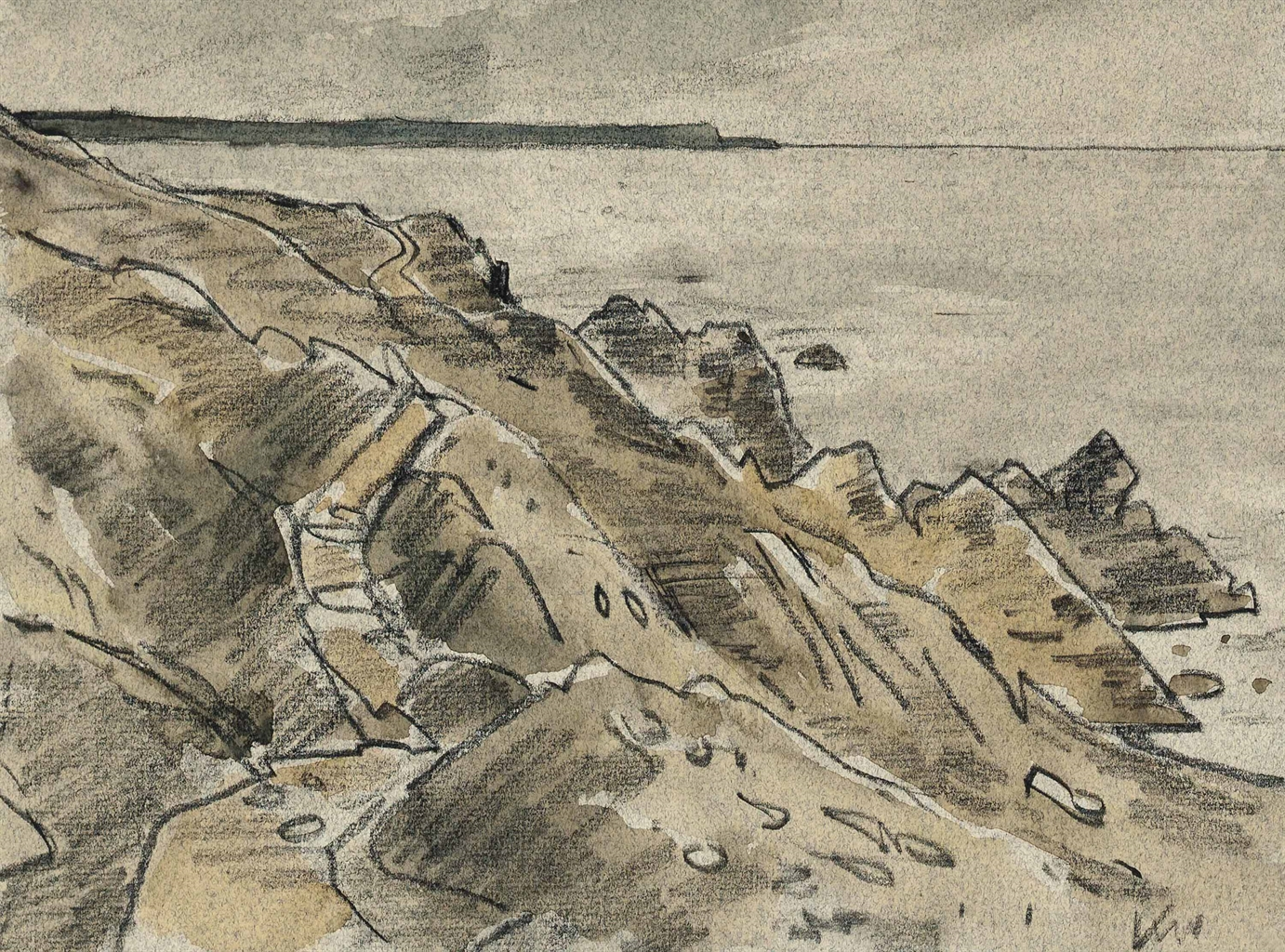 Kyffin Williams-Coastal path Pembrokeshire-