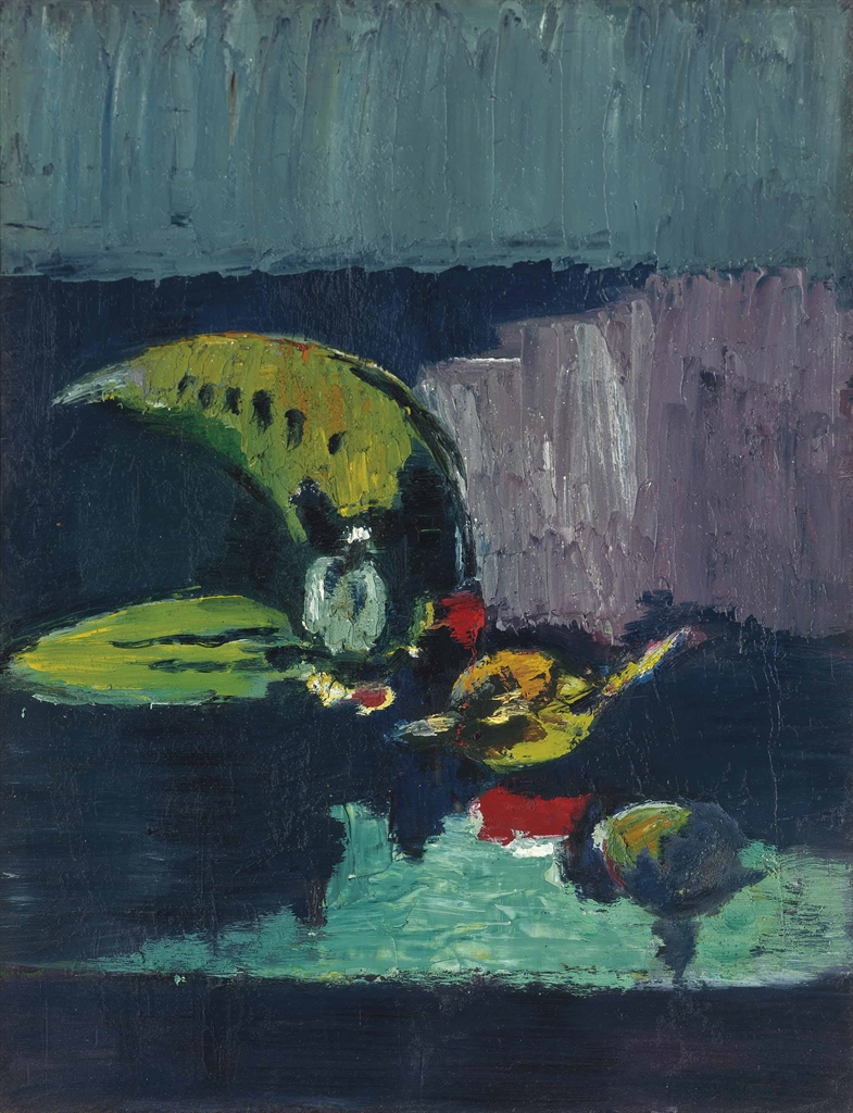 Jacob Bornfriend-Still life with sliced melon-