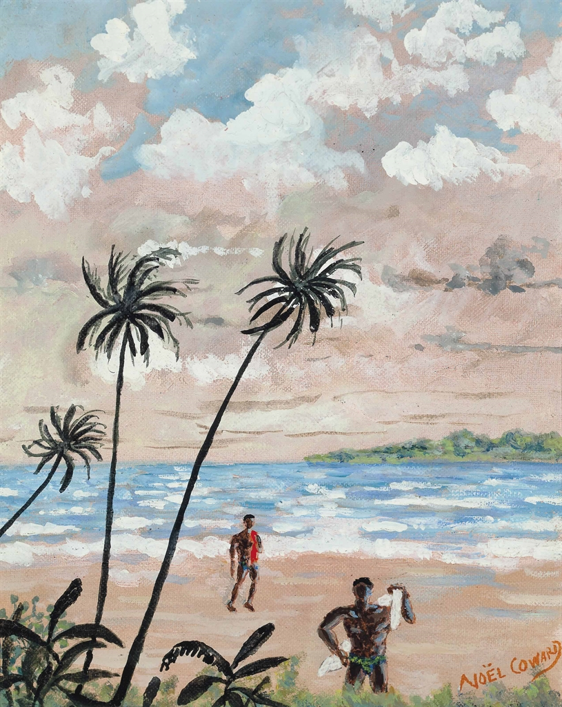 Noel Coward-Beach with Palms-