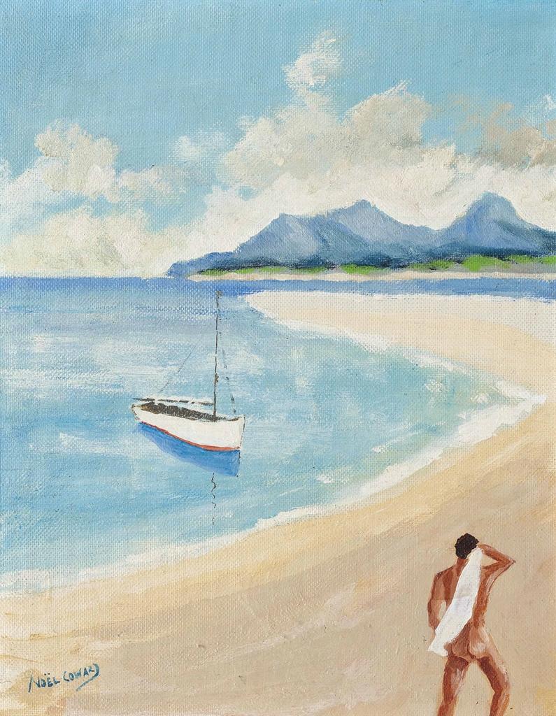 Noel Coward-Nude on a beach-