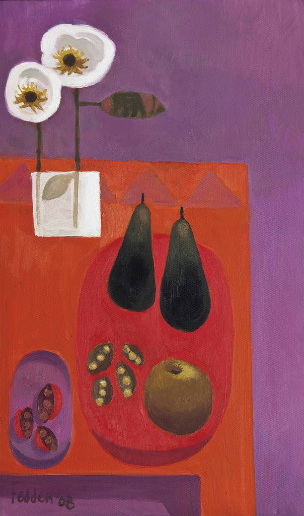 Mary Fedden-Two pears-2008