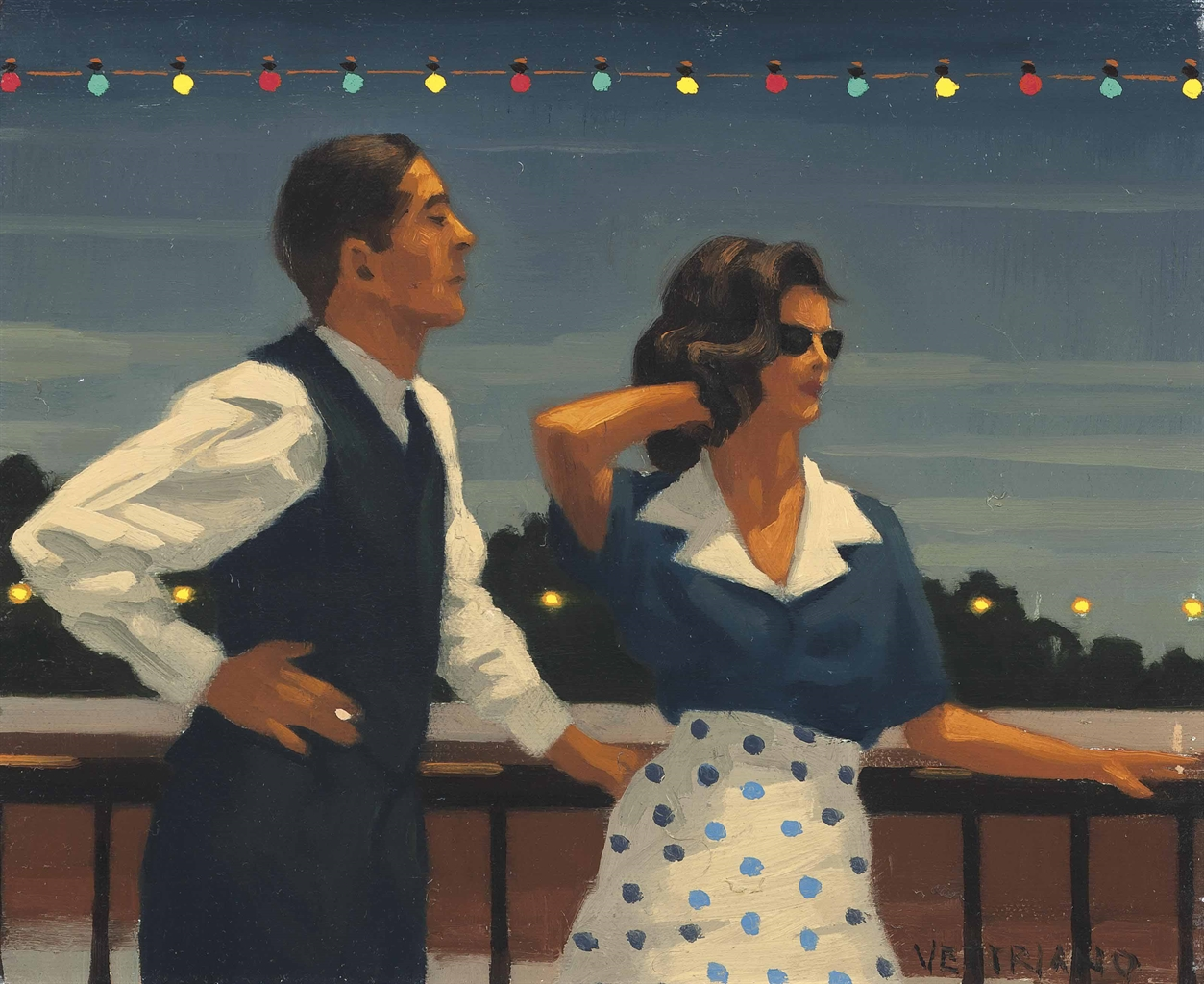 Jack Vettriano-Midnight Blue - study-