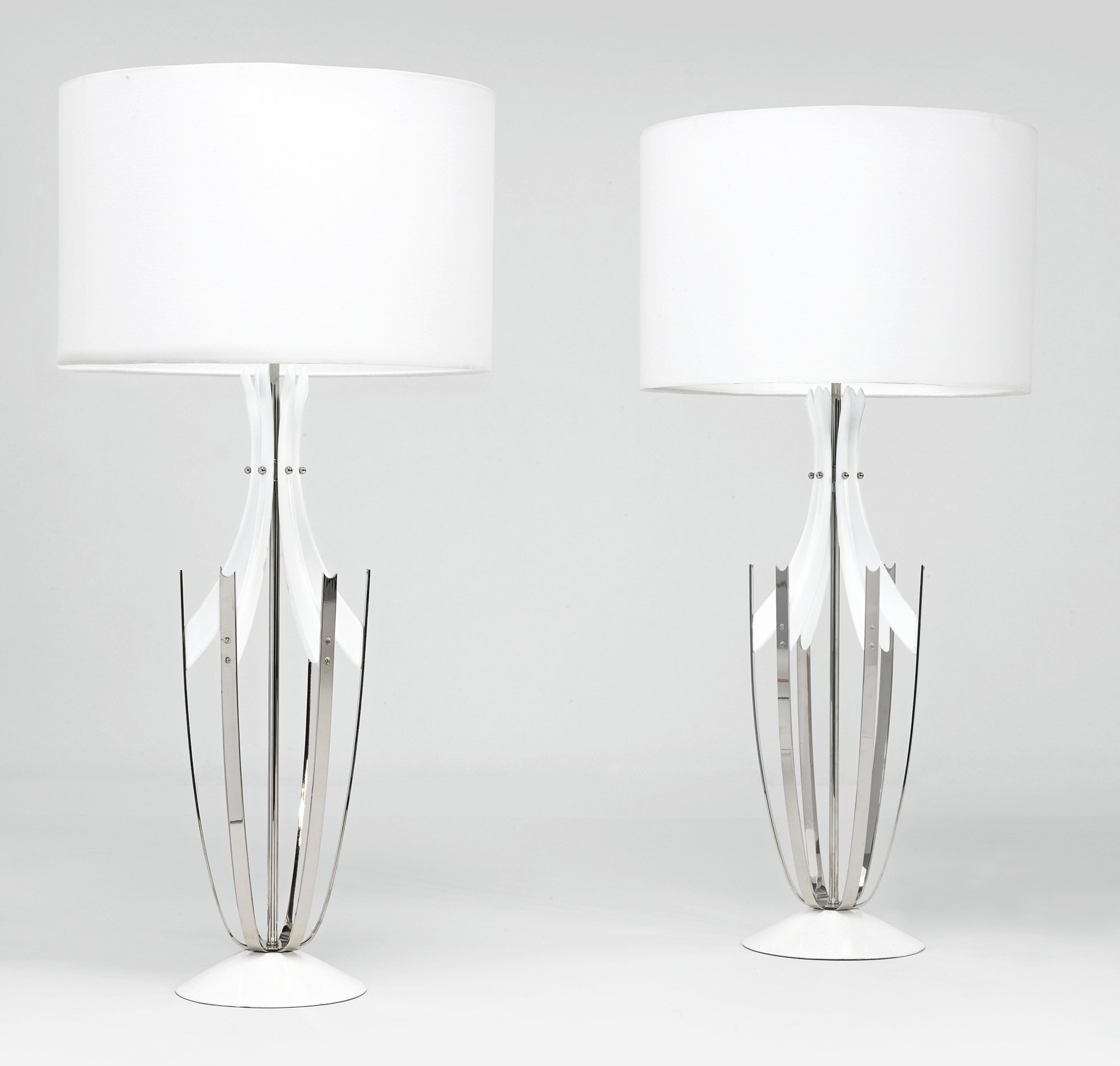 Pair of American Modernist Table Lamps-