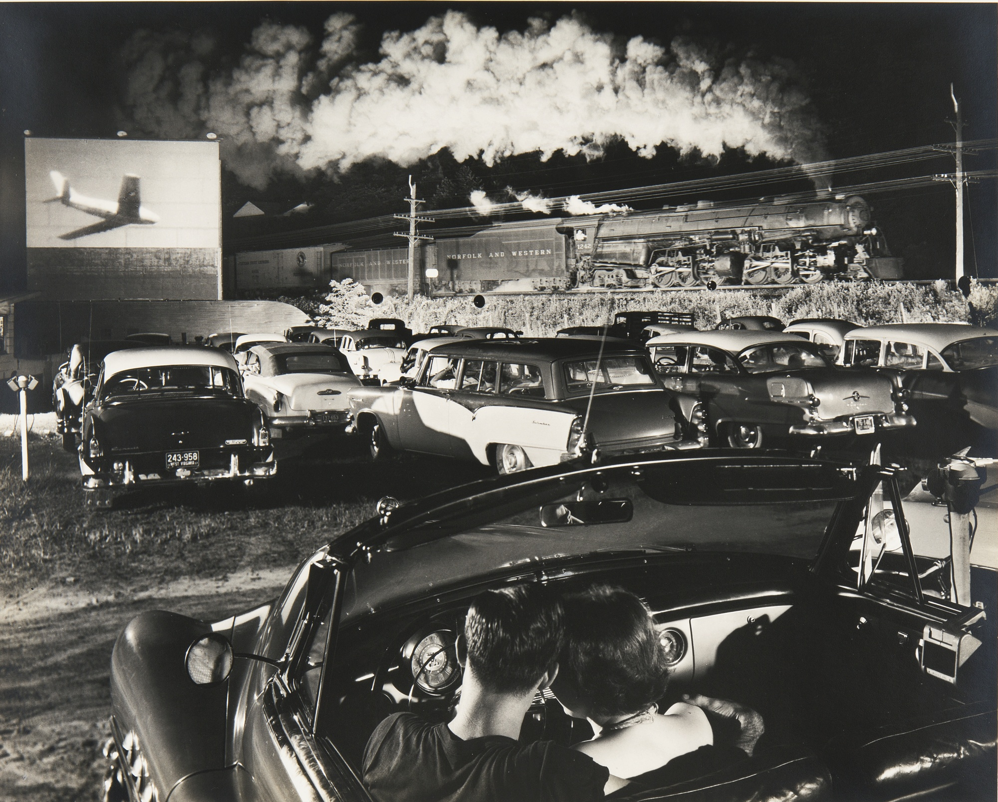 O. Winston Link-Hot Shot Eastbound Iaeger West Virginia-1957