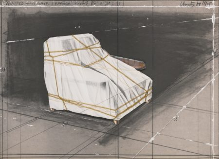 Christo and Jeanne-Claude-Wrapped Armchair Project (S. 152)-1990