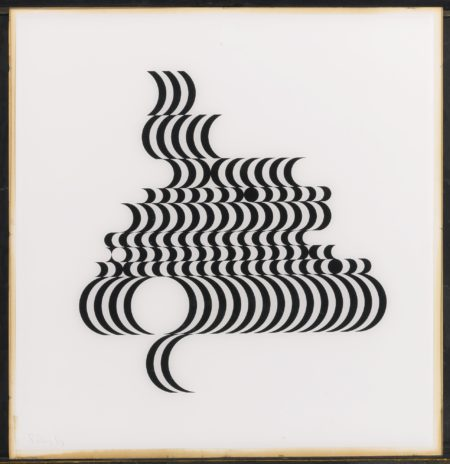Bridget Riley-Untitled (Fragment 2) (Schubert 5B)-1965