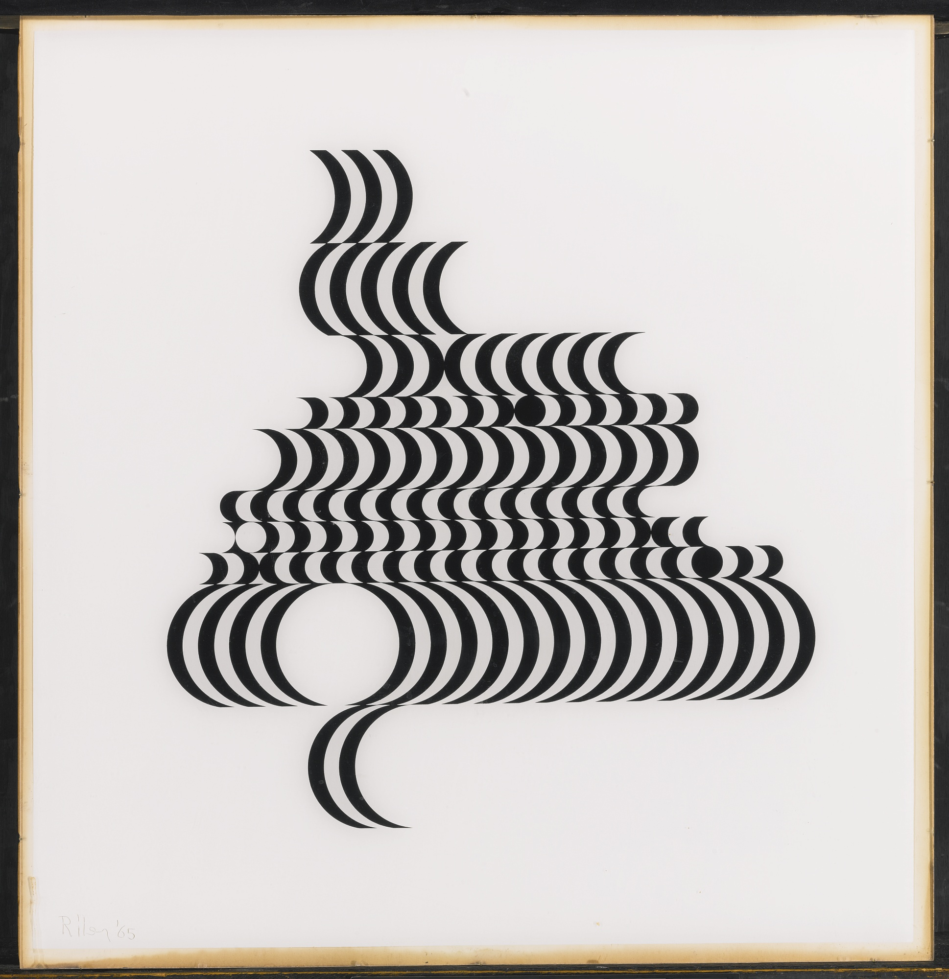 Bridget Riley-Untitled (Fragment 2) (Schubert 5B)-1965