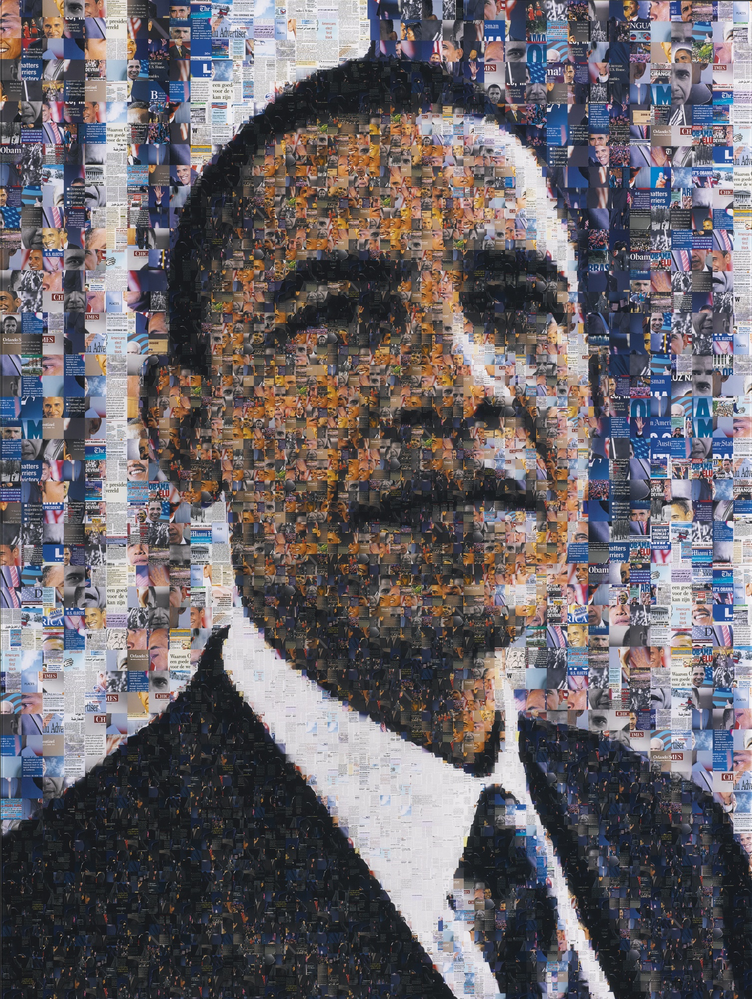 Robert Silvers-Barack Obama (Photomosaic)-2009