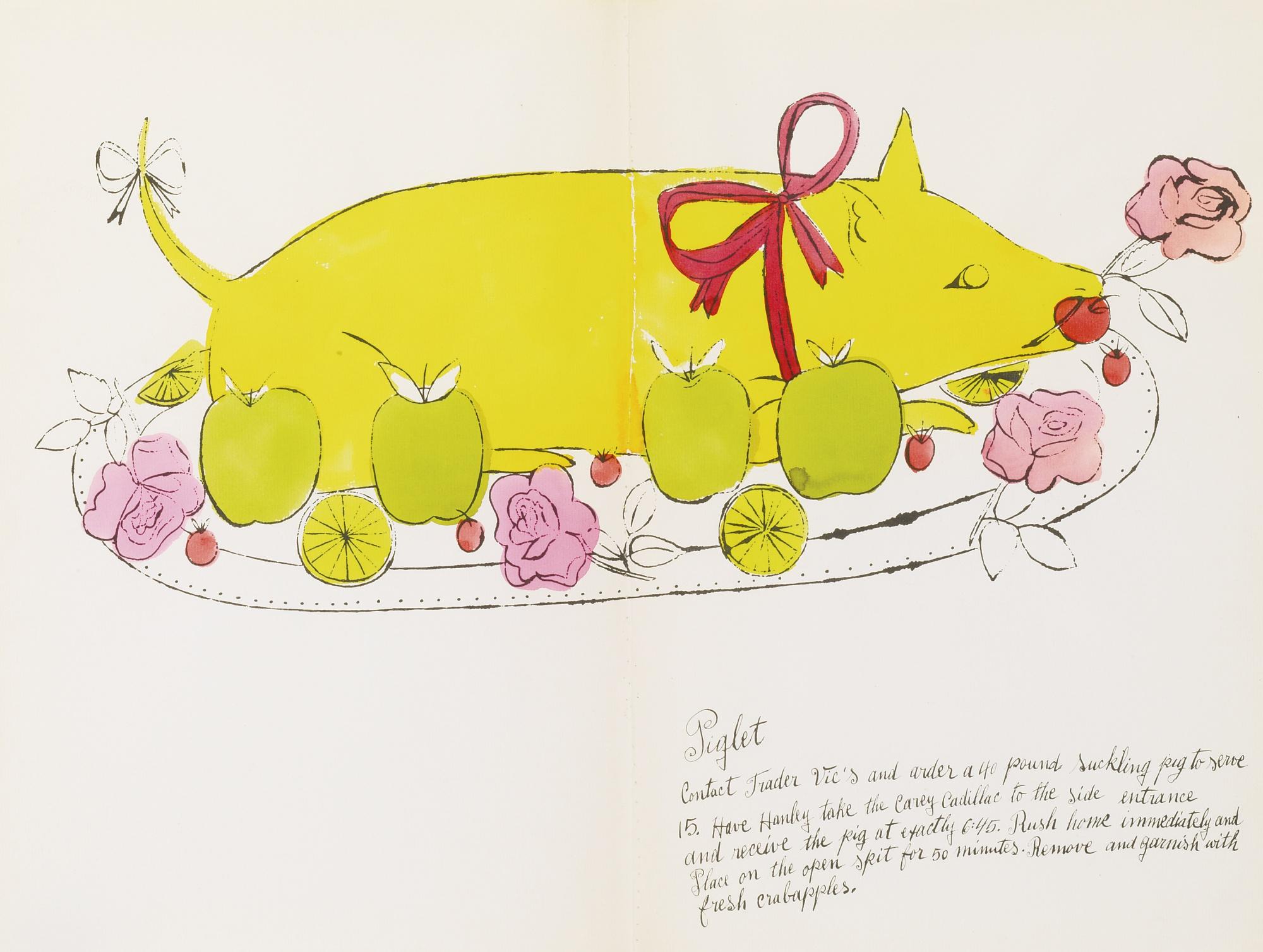 Andy Warhol-Piglet (Feldman & Schellmann IV.134B)-1959