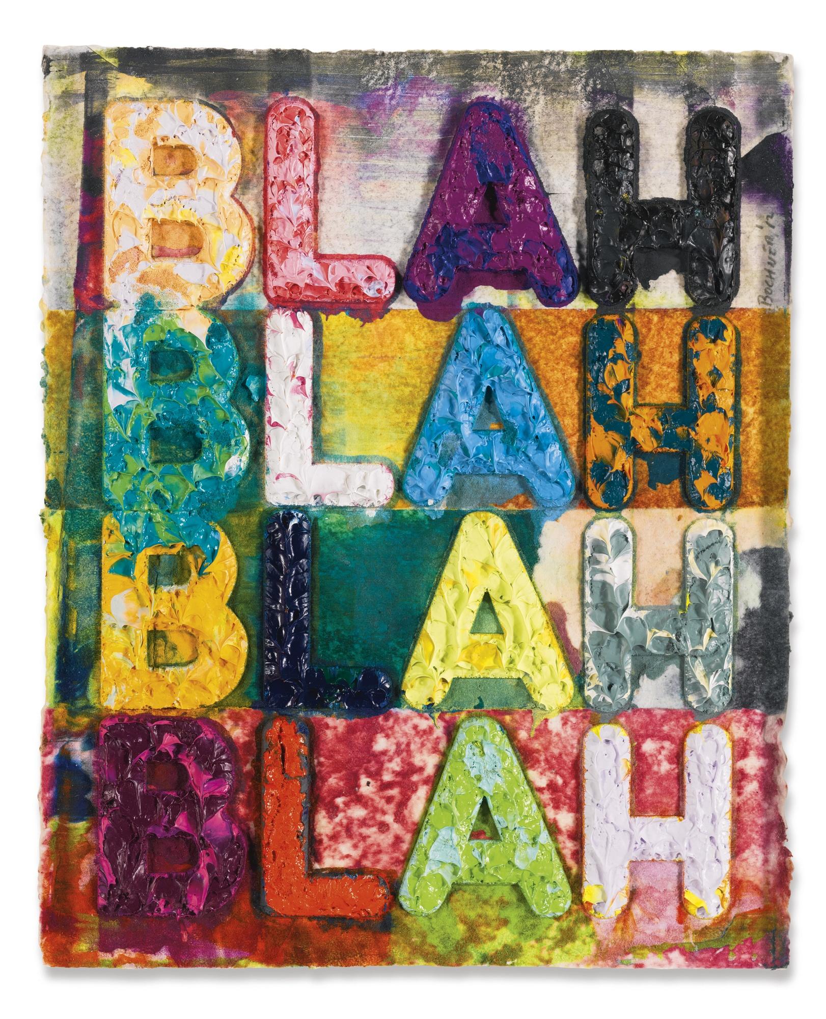 Mel Bochner-Blah Blah Blah-2012