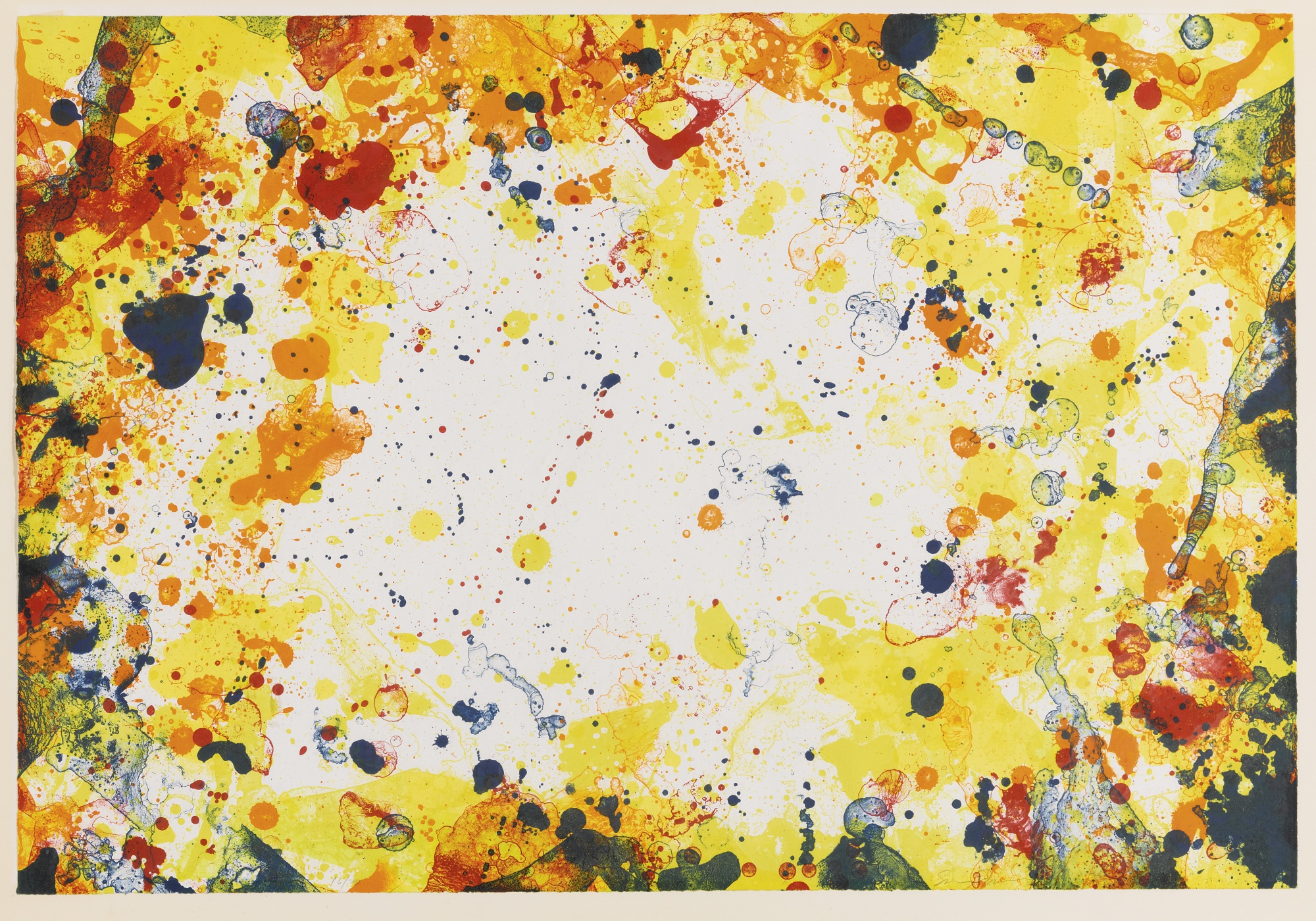 Sam Francis-Blue Eye Over China (Lembark 129)-1971