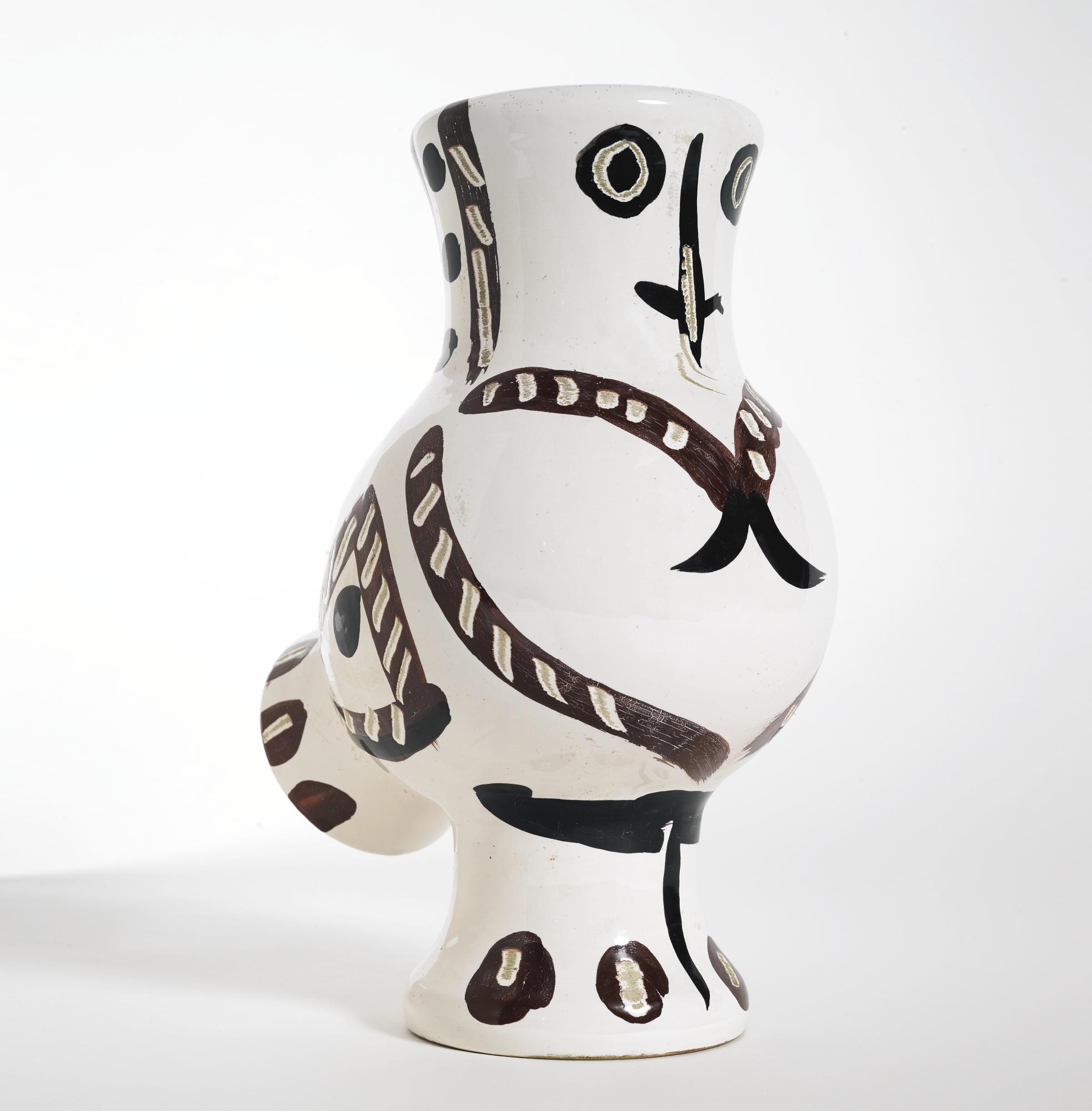 Pablo Picasso-Chouette Aux Traits (A. R. 121)-1951