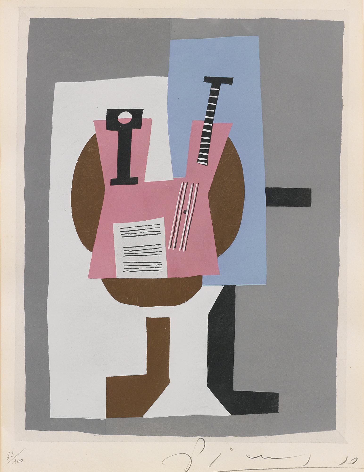 Pablo Picasso-After Pablo Picasso - Guitare Et Partition-1920