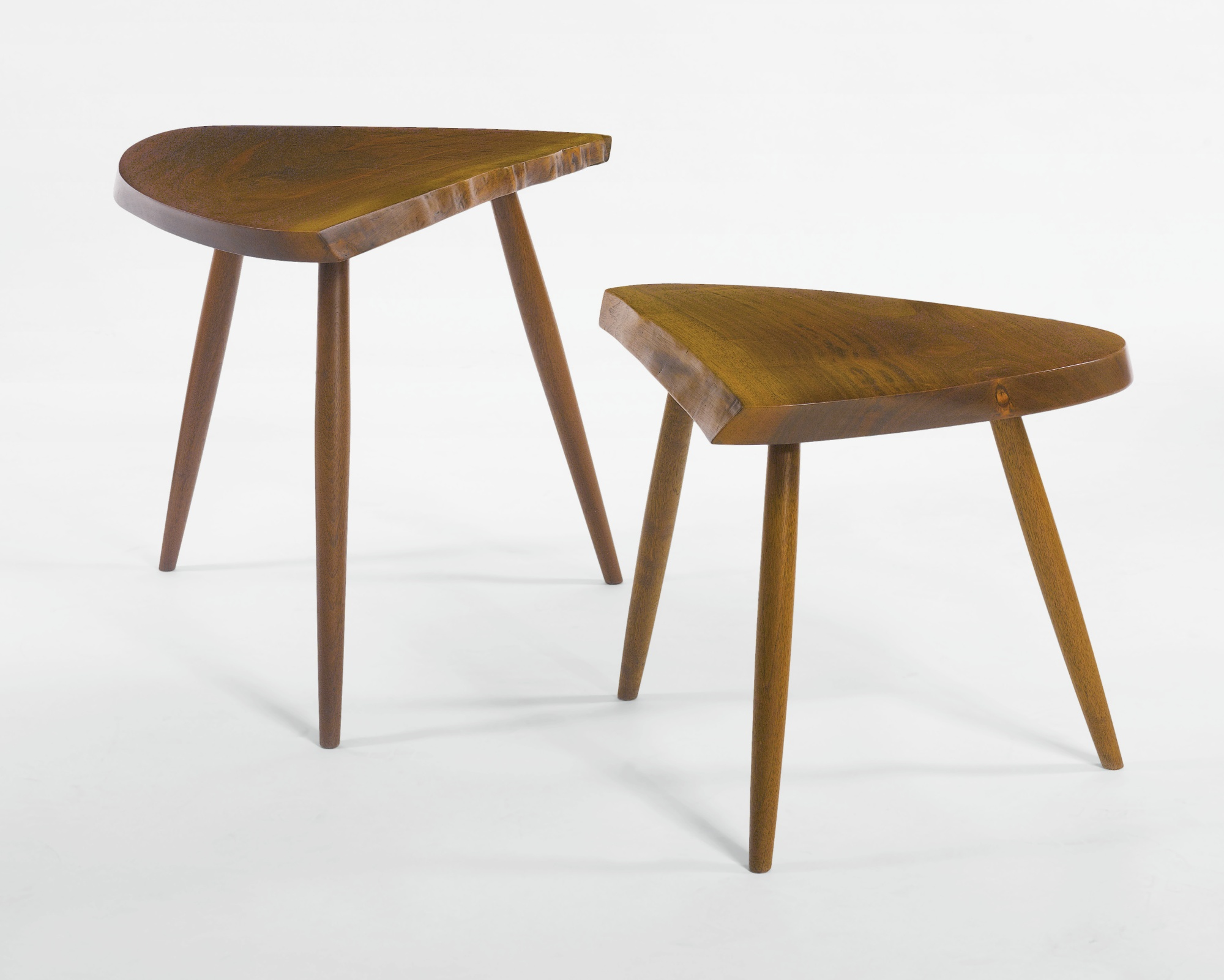 "George Nakashima - ""Wohl"" And ""Wepman"" Side Tables-1973"