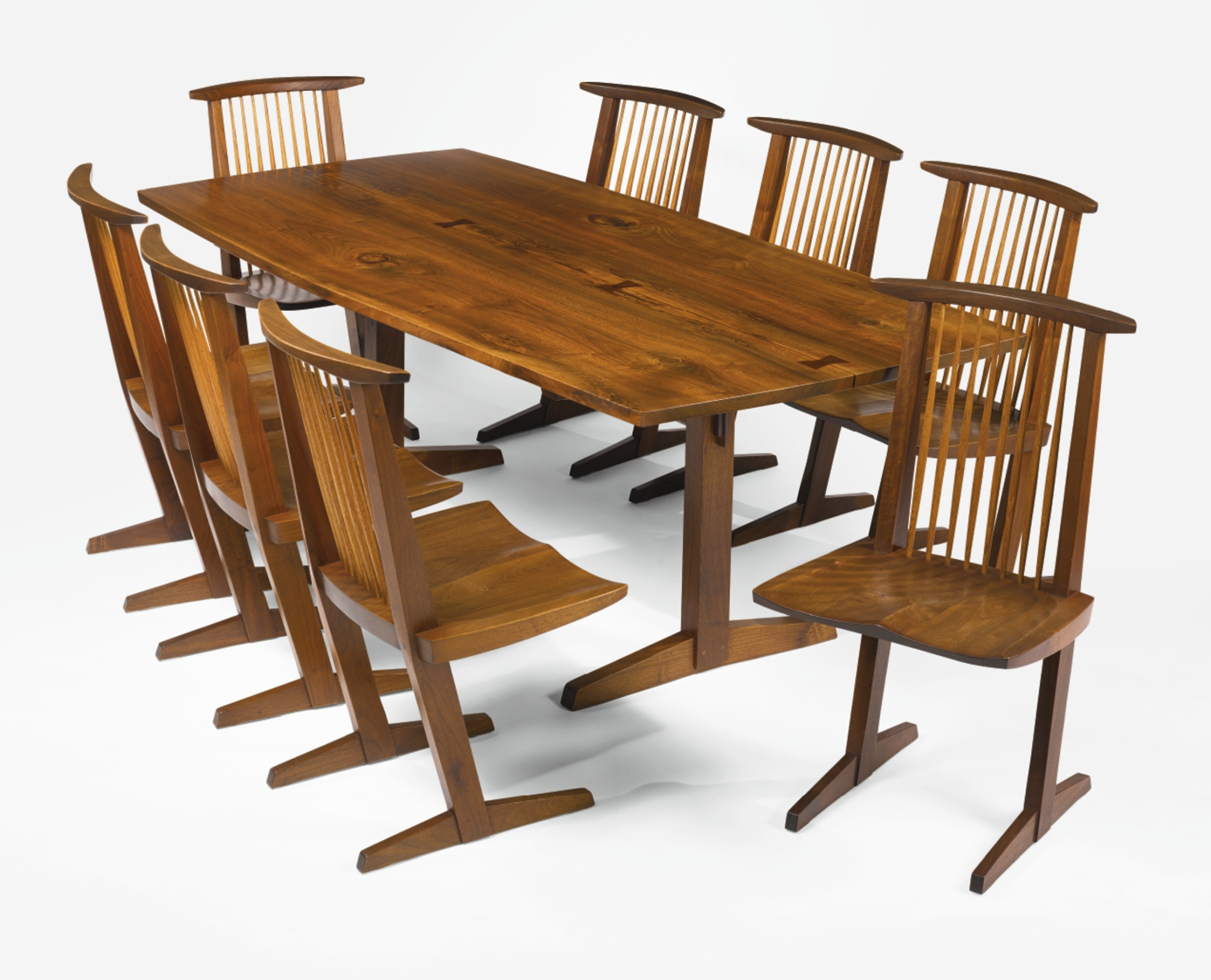 "George Nakashima - Eight ""Conoid"" Chairs-1968"