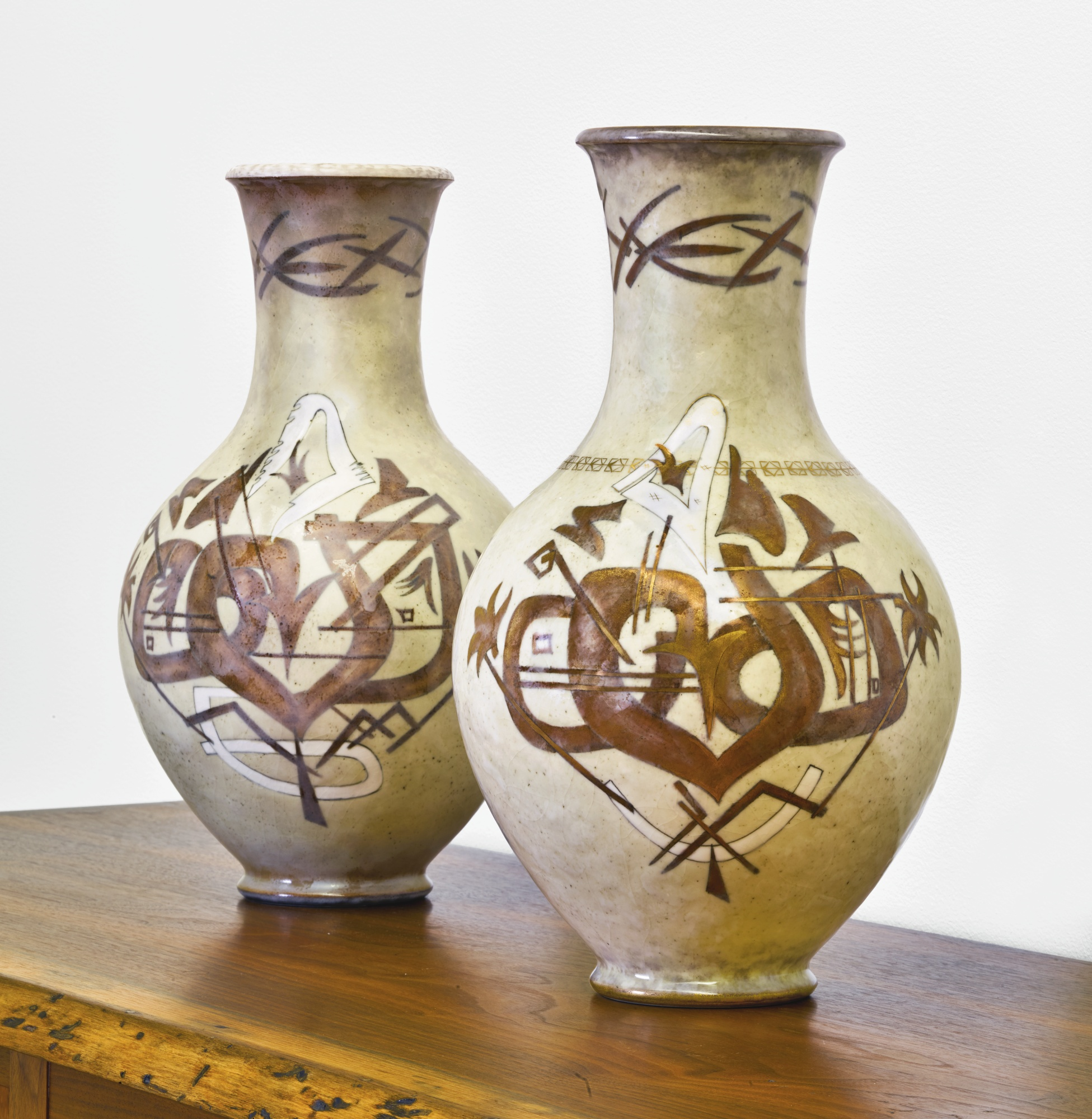Sevres - Two Plantard Vases-1955