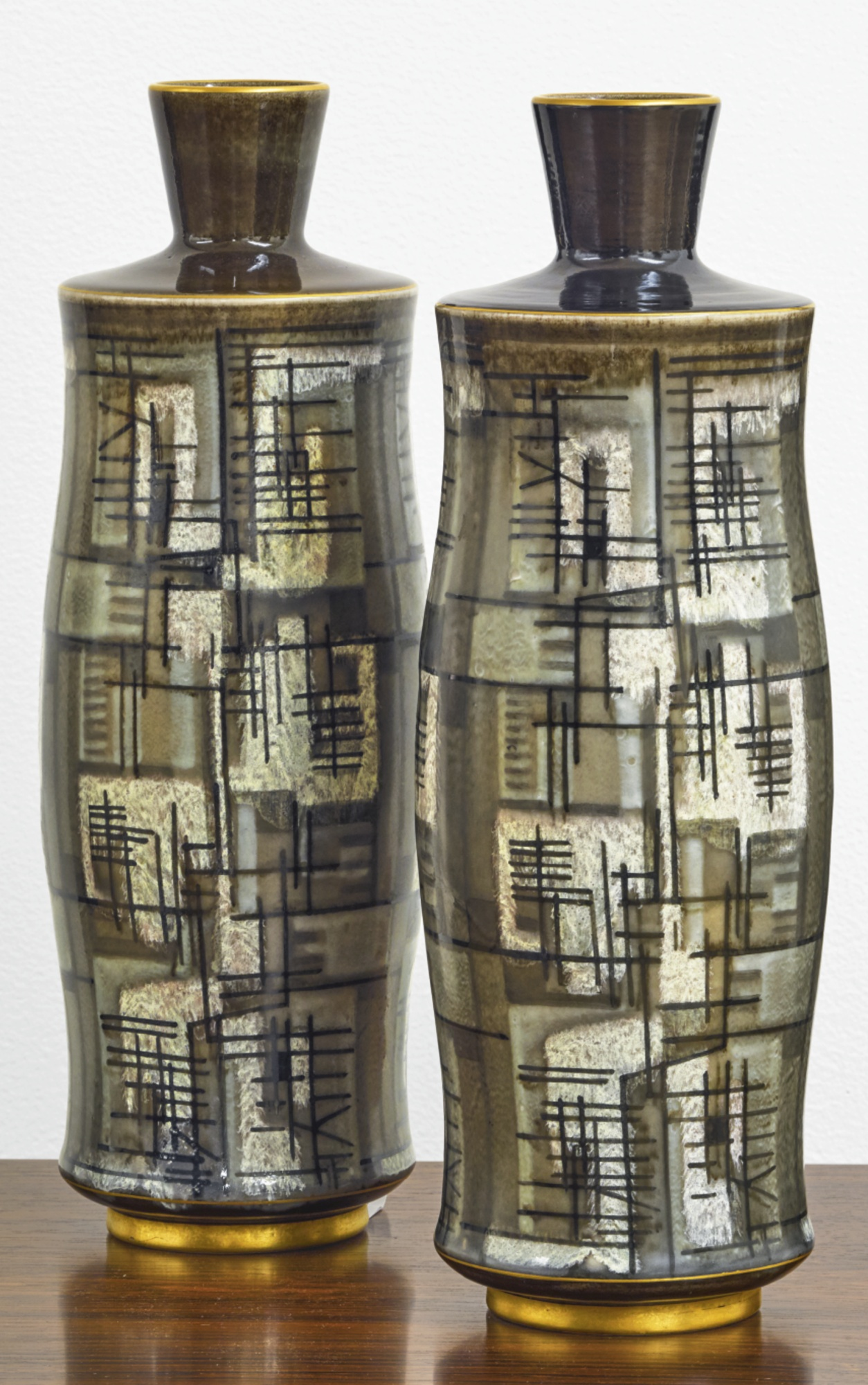 Sevres - Two Gensoli Vases-1953