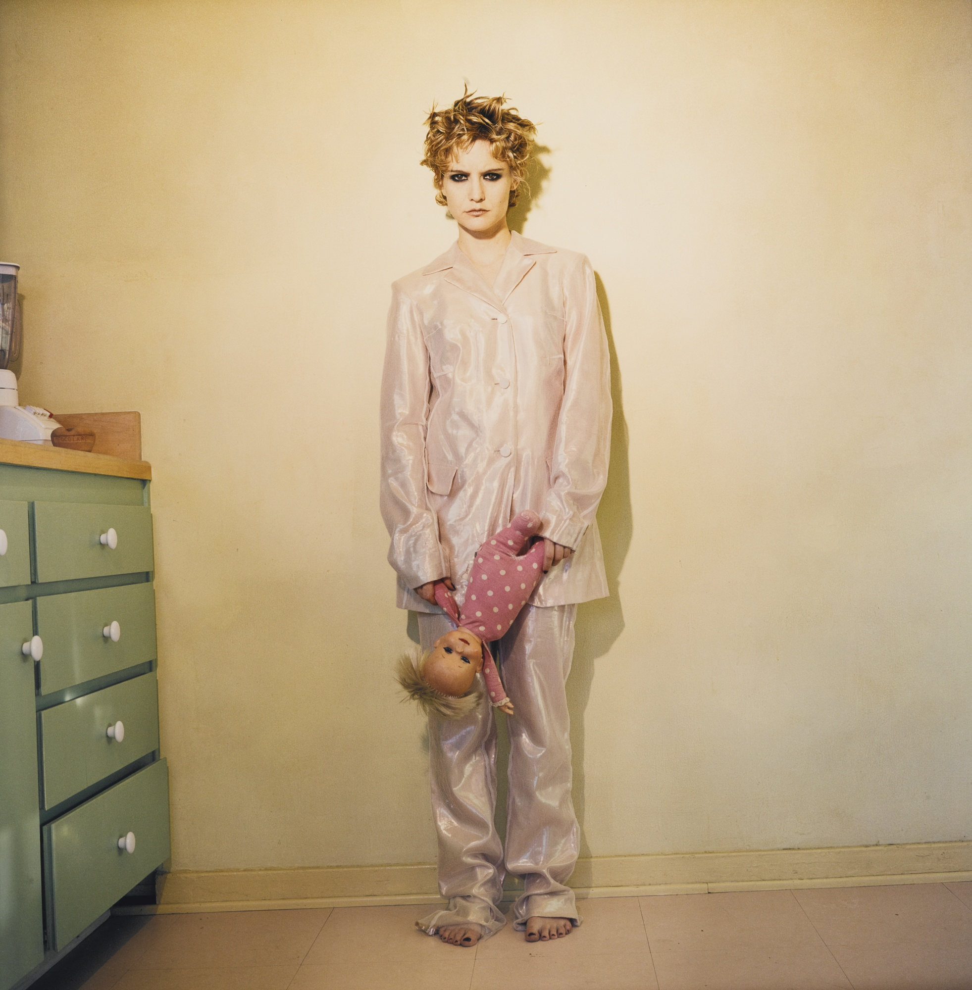 Bettina Rheims-Jennifer Jason Leigh Leaning Against A Kitchen Wall - November 1995 Los Angeles'-1995