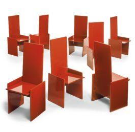 Kazuhide Takahama - Eight Kazuki Chairs-1968