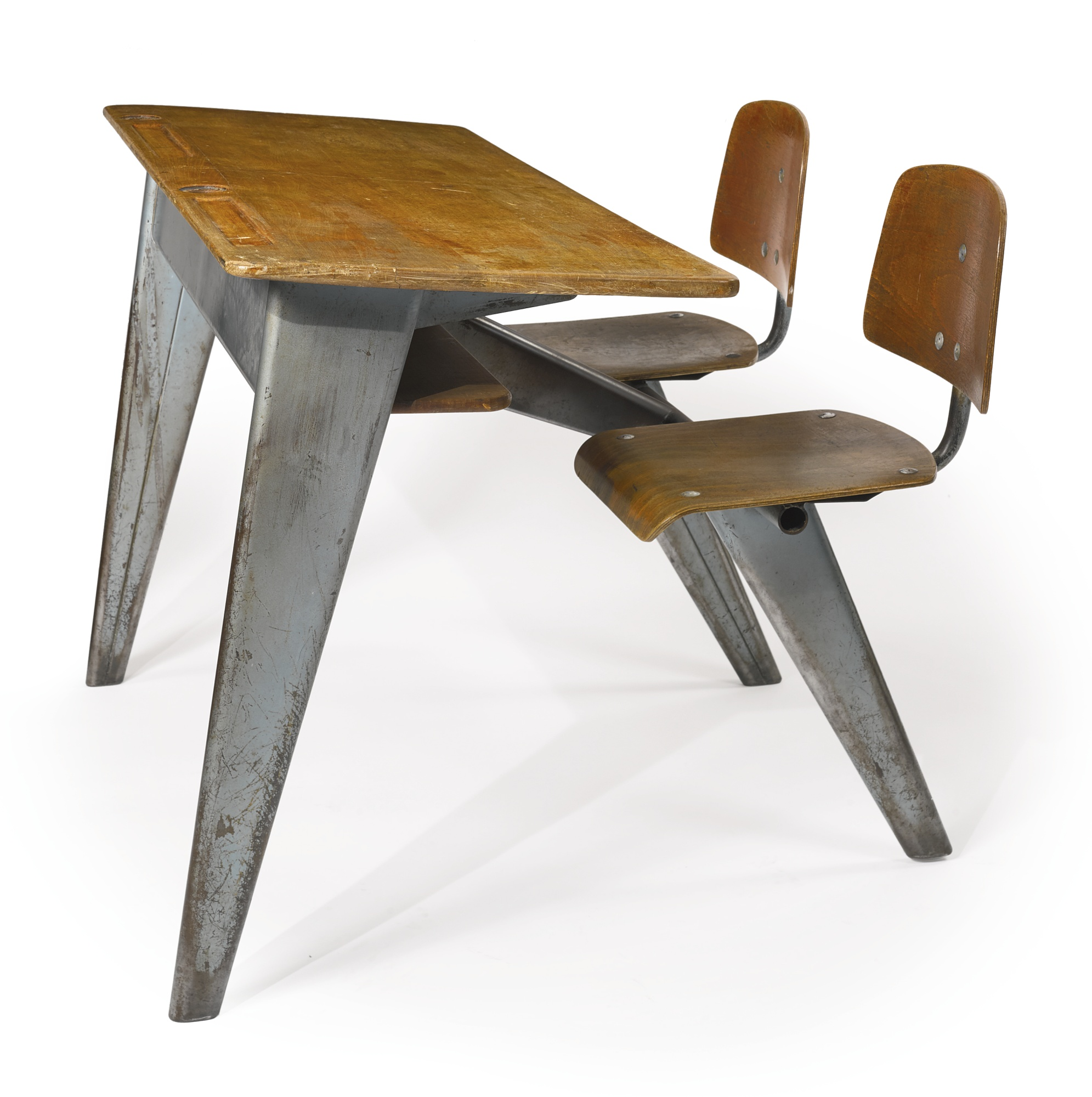 Jean Prouve - Two-Seater School Desk Model Pg 11 Variation-1951